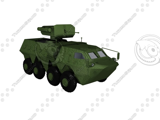 3d model btr-4 transport
