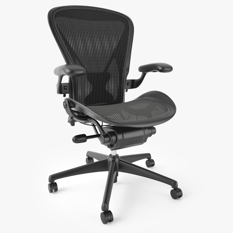 Herman Miller Desk Chair Aeron Office Max Throughout Decor