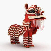 3d chinese lion model