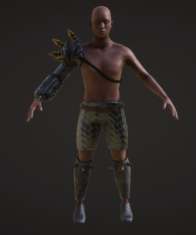 human warrior obj