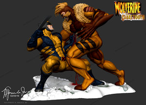 3d x-men wolverine sabretooth