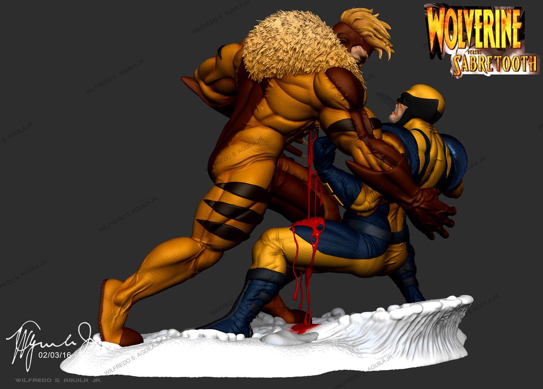 7ed8ba5dc3a wolverine vs sabretooth