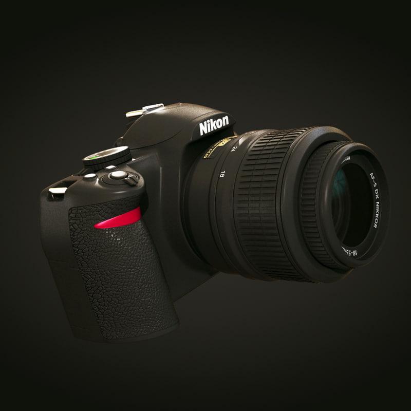 nikon d3100 camera 3d model