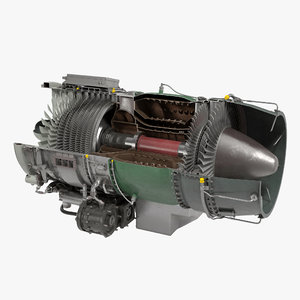 turbojet engine general electric 3d c4d