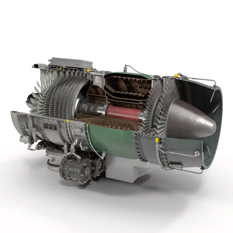 turbojet engine general electric 3d c4d