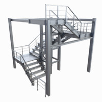 Industrial staircase (stackable)