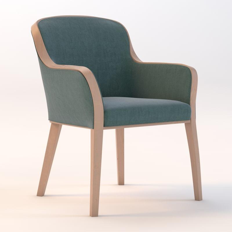 3d model of chair uffe quin