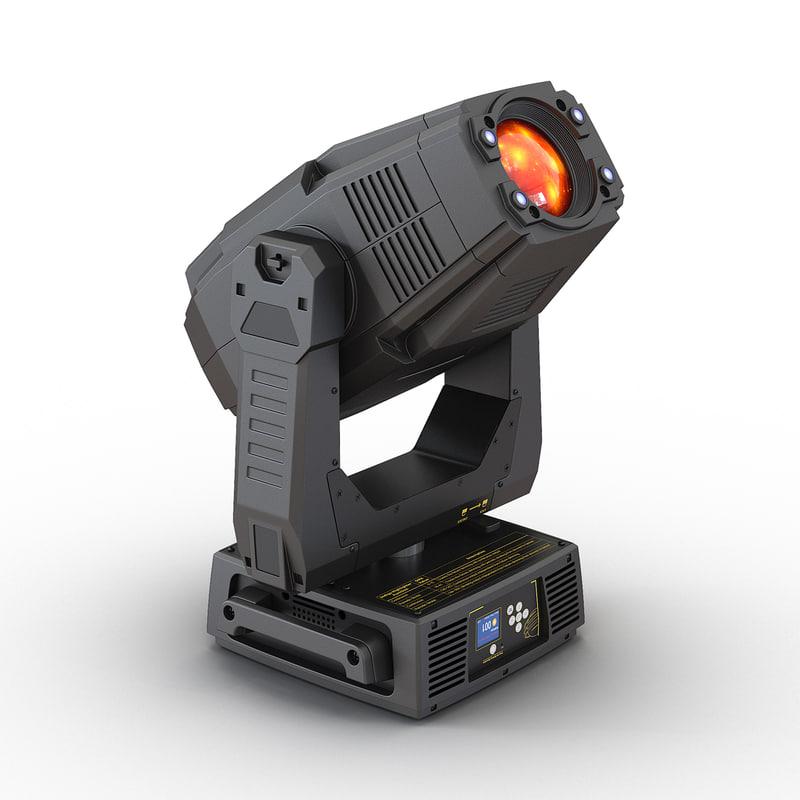 3d led stage moving light model