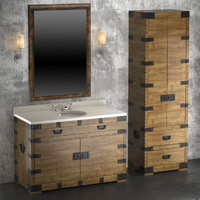 3d heirloom silver washbasin cupboard