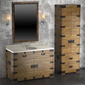 3d heirloom silver washbasin cupboard
