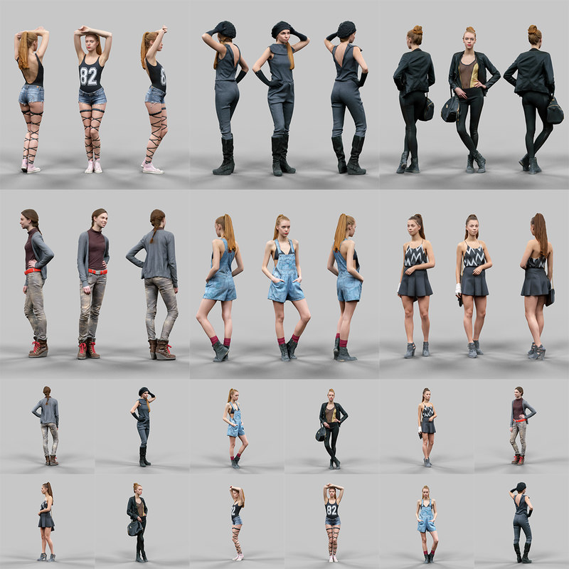 3d scanned female character 6