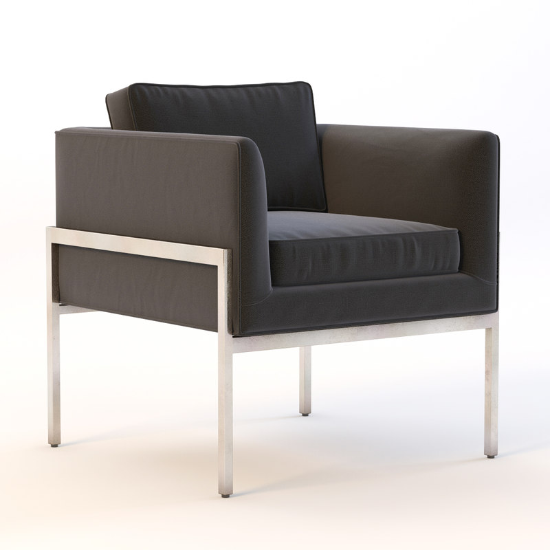 3d model chair octavio lounge