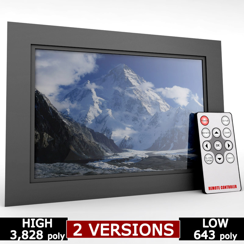 digital picture frame remote 3d model