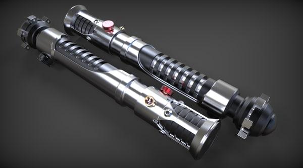 3d model jedi obi-wan kenobi lightsaber
