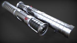 3d jedi quinlan vos s lightsaber model