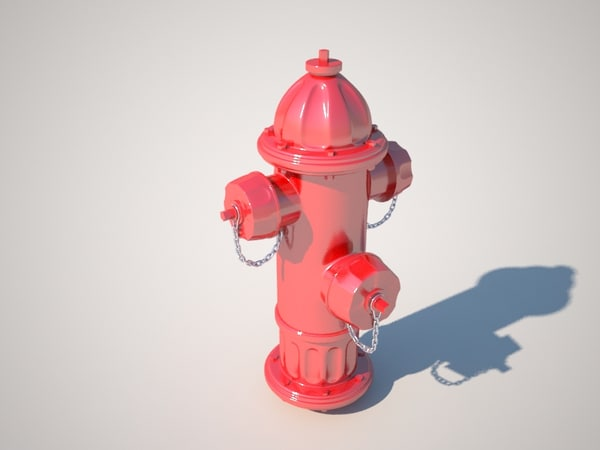 hydrant street urban 3d model