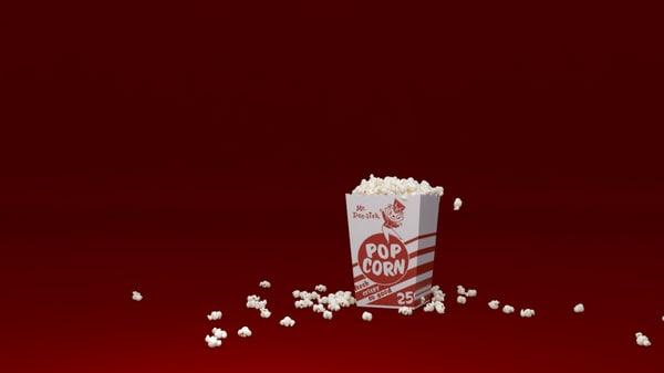 popcorn 3d model