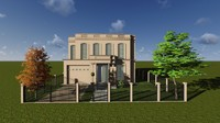 Classical house with modern elements