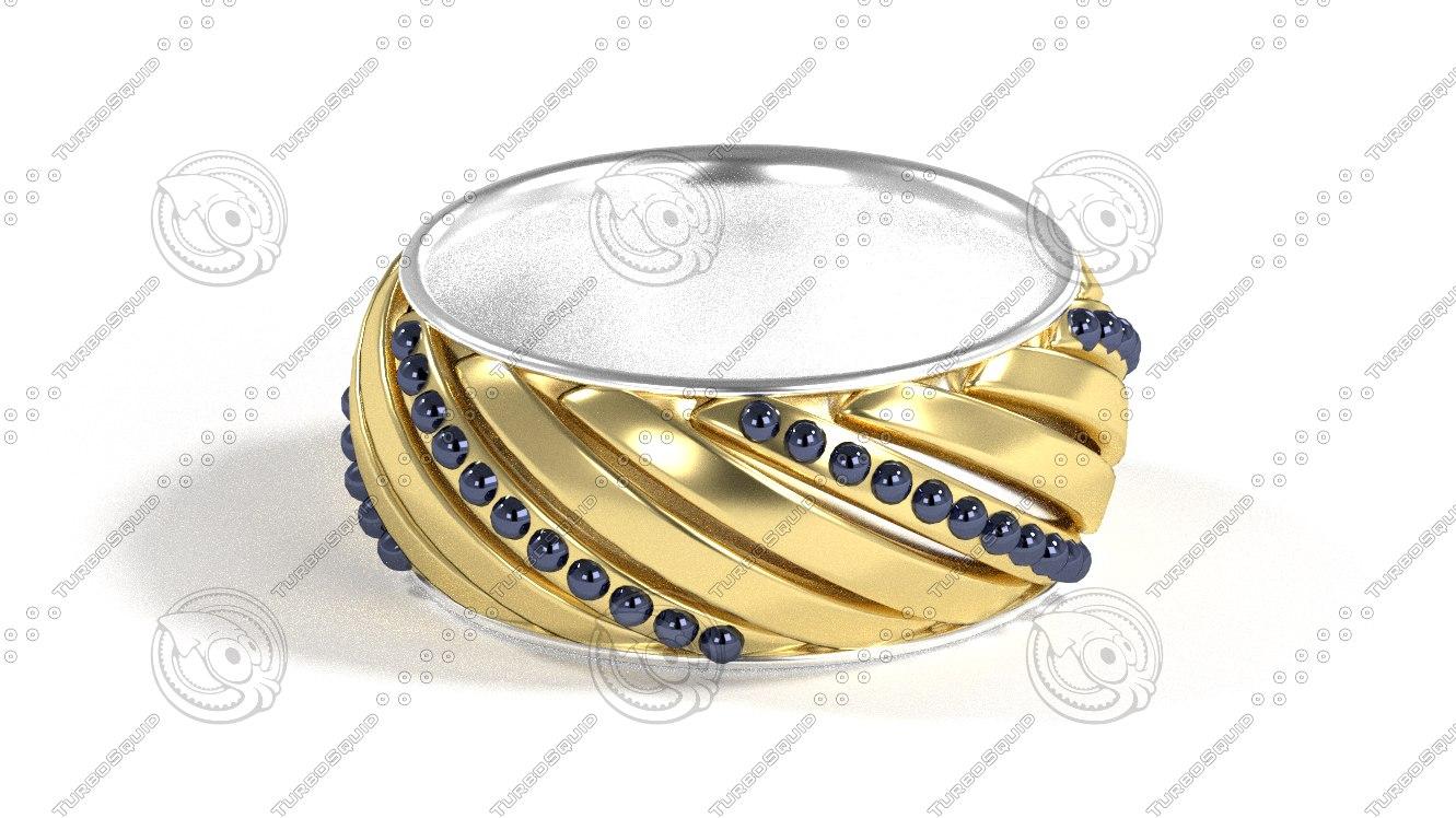 ring bracelet 3d 3ds