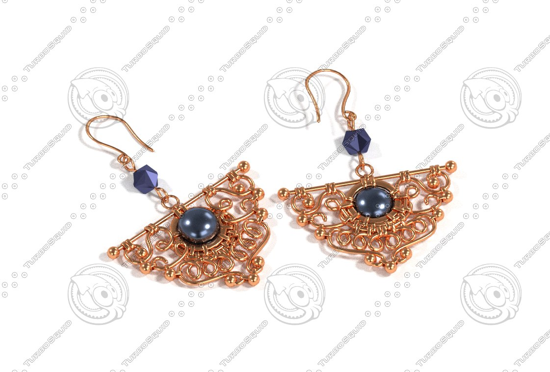 earrings 3d model
