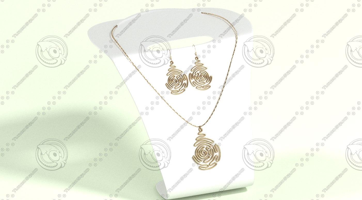 3ds jewelry set