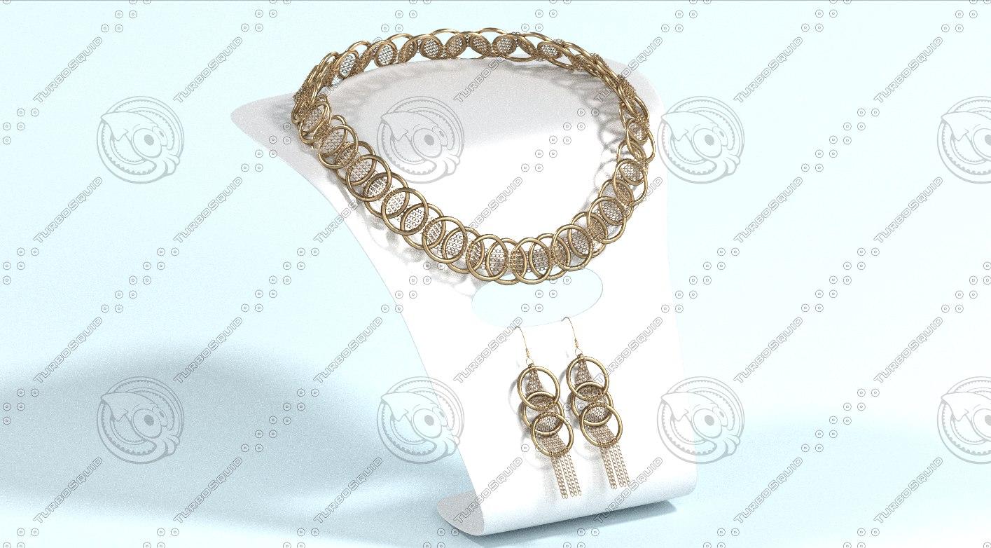 3d jewelry set model