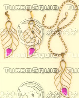 3d model necklace earrings