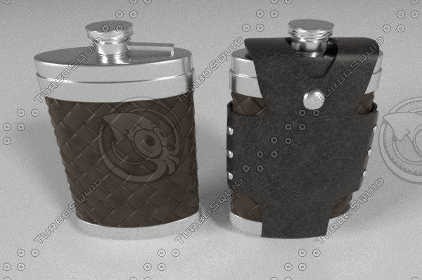 flask leather case 3d model