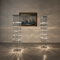 crystal floor standing lamp circle square
