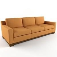 3d model of manhattan sofa