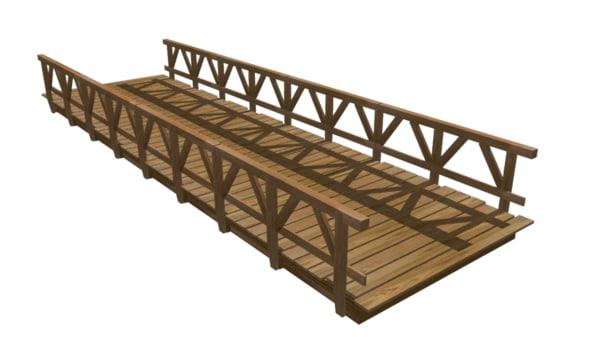 3d wooden bridge