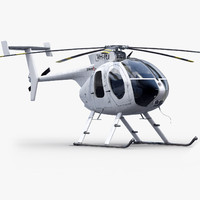 md 530 helicopter 3d max
