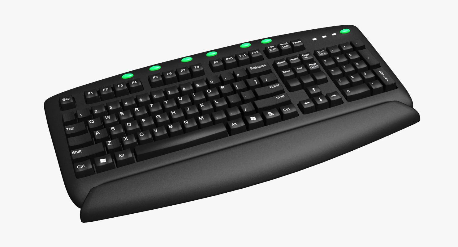 3d keyboard key board