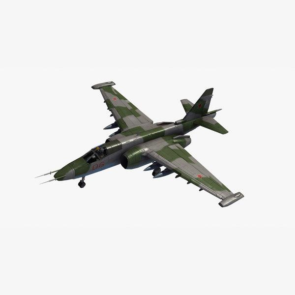 3d su25 frogfoot aircraft model