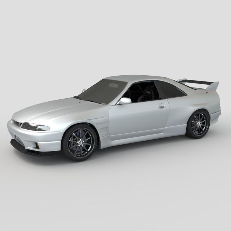 nissan skyline r33 gtr 3d model