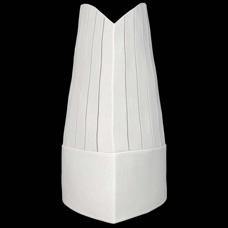 3d model of realistic chef hat 03