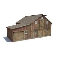 Low Poly Wild West Barn