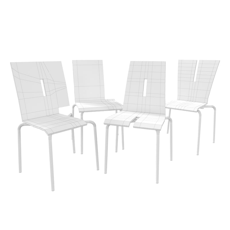 Tabisso Kids Chairs 3d Model
