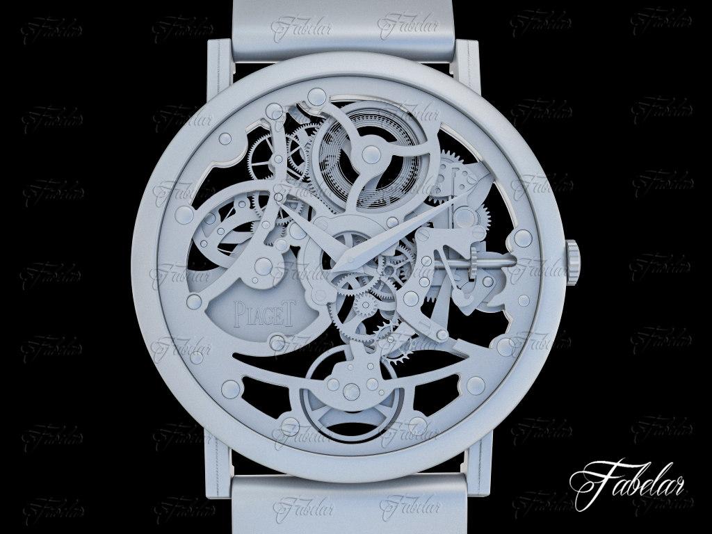 3d watch mechanism 19 model
