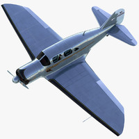luxury classic aircraft spartan 3d max