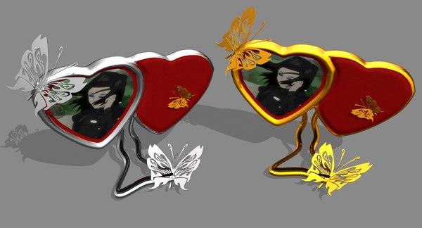 3d frame heart