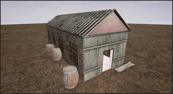 old barn | 3d max