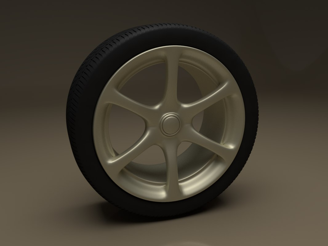 car wheel 3d 3ds