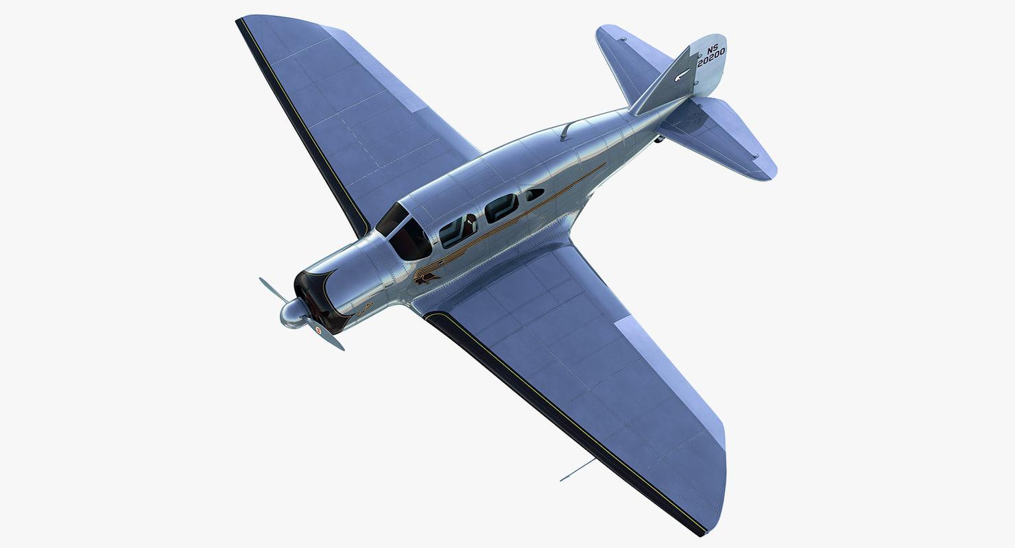 luxury classic aircraft spartan 3d max