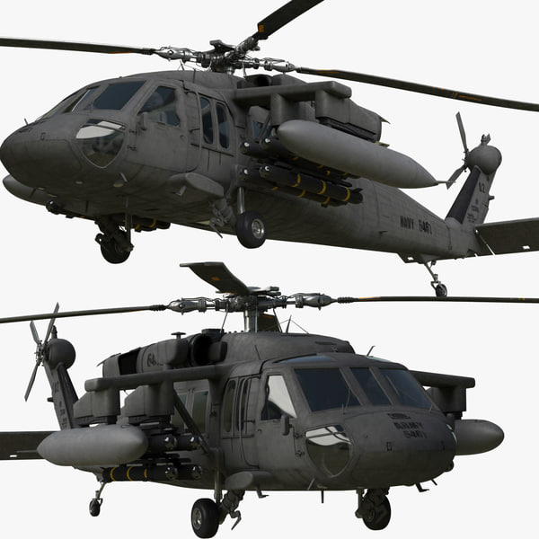 3d rigged uh-60m black hawk model