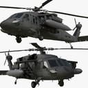 3d rigged uh-60m black hawk model