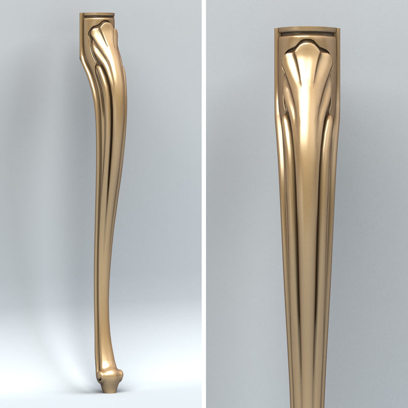 carved furniture leg 3d max