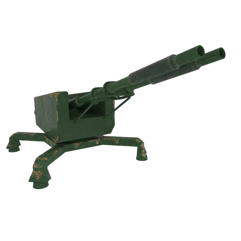 antiaircraft gun 3d model