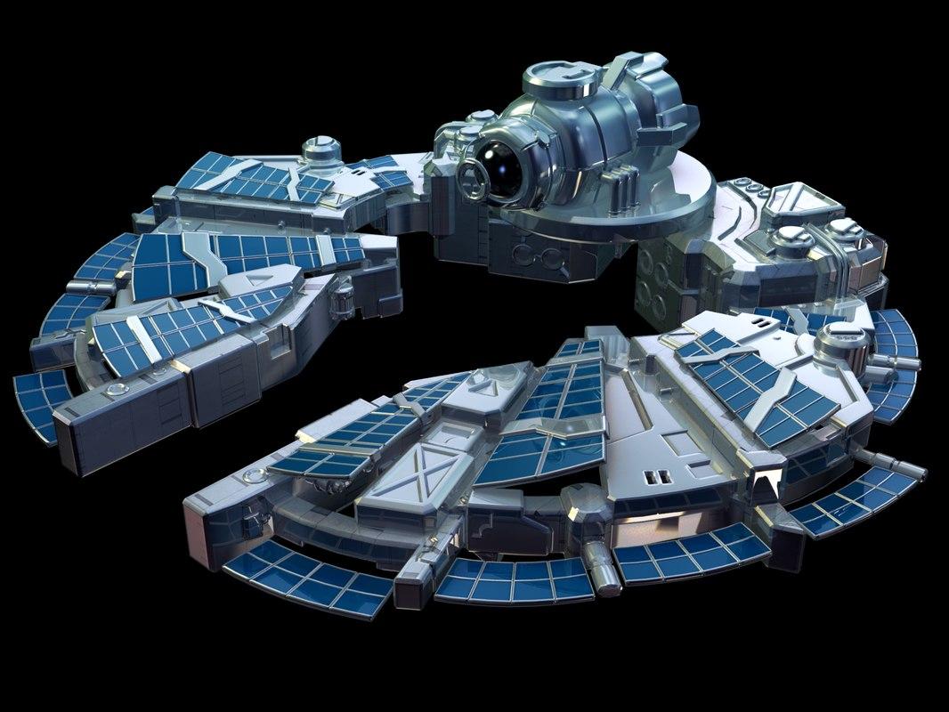 sci-fi spaceship 3d max