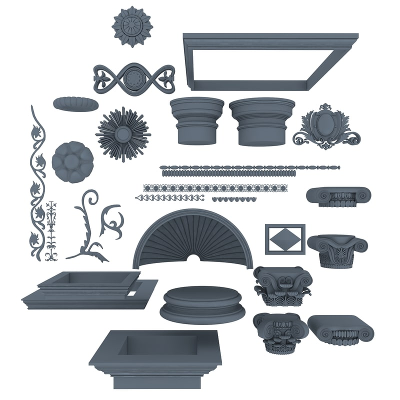architectural elements 3d max